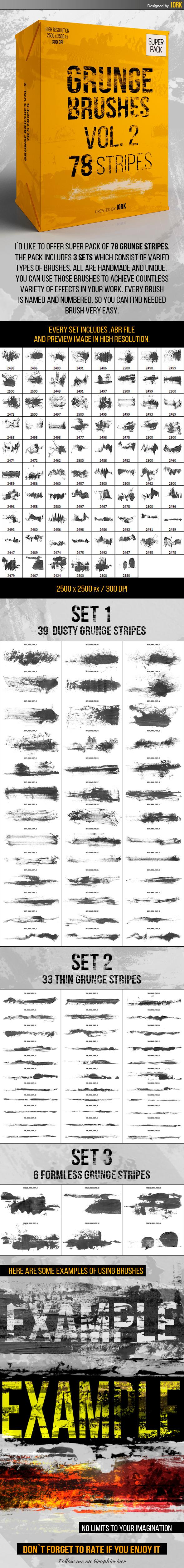 Grunge brushes Vol.2 - 78 stripes - Grunge Brushes