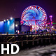 Santa Monica Pier Pacific Park At Night - VideoHive Item for Sale
