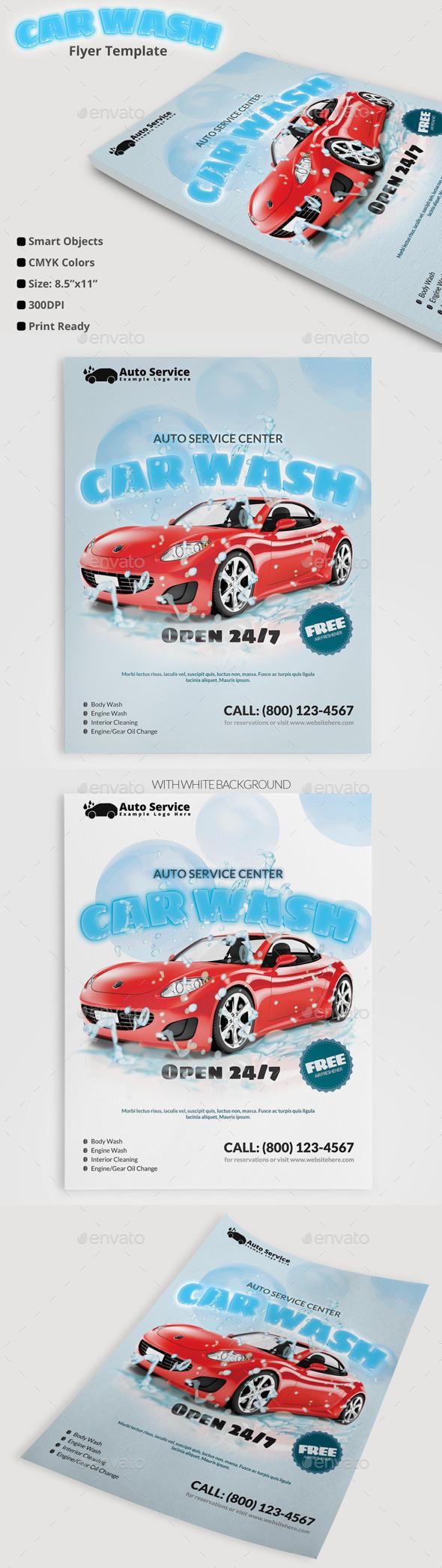 Car Wash Flyer - Commerce Flyers