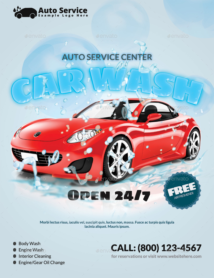 car wash flyer by pmvch graphicriver
