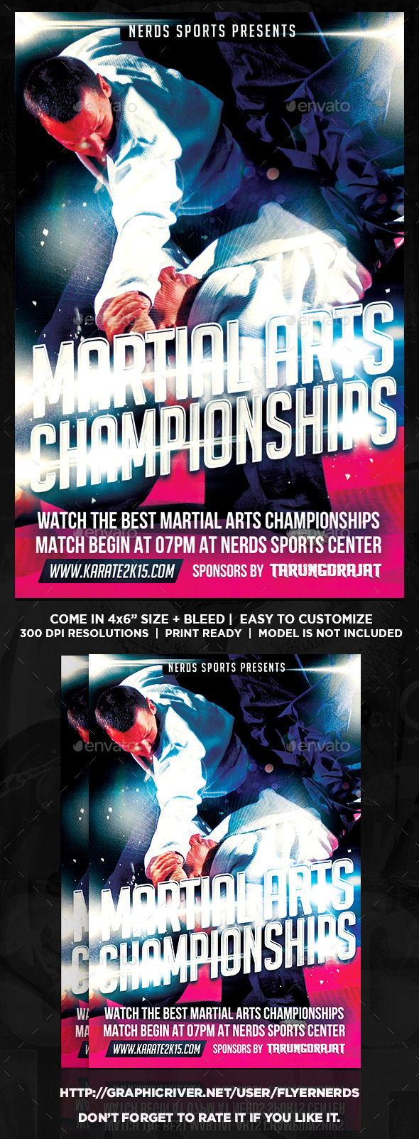 Martial Arts 2K15 Championships Sports Flyer - Sports Events