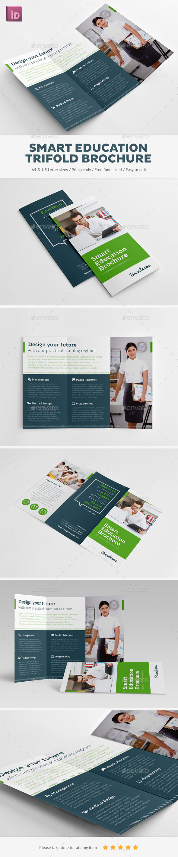 Smart Education Trifold Brochure - Brochures Print Templates
