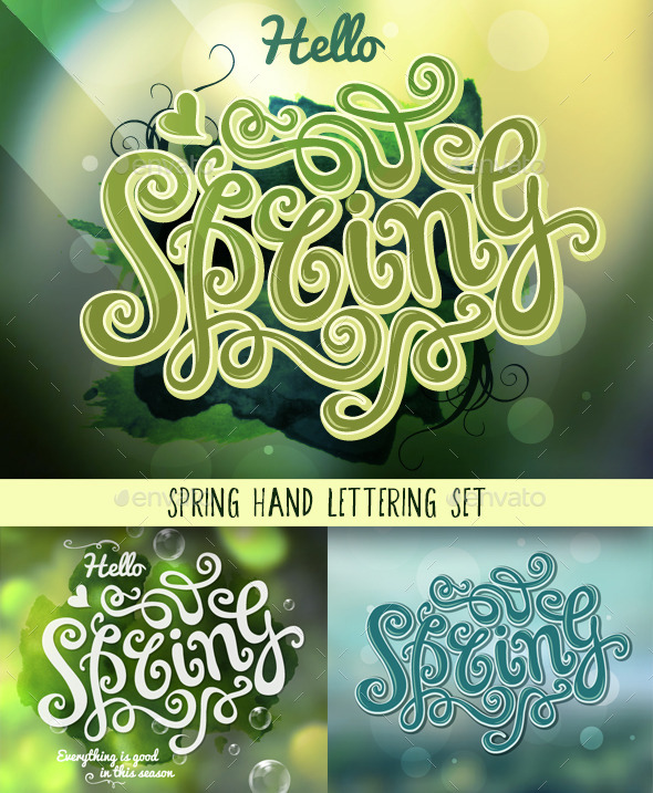 Spring Hand Lettering Set - Miscellaneous Seasons/Holidays