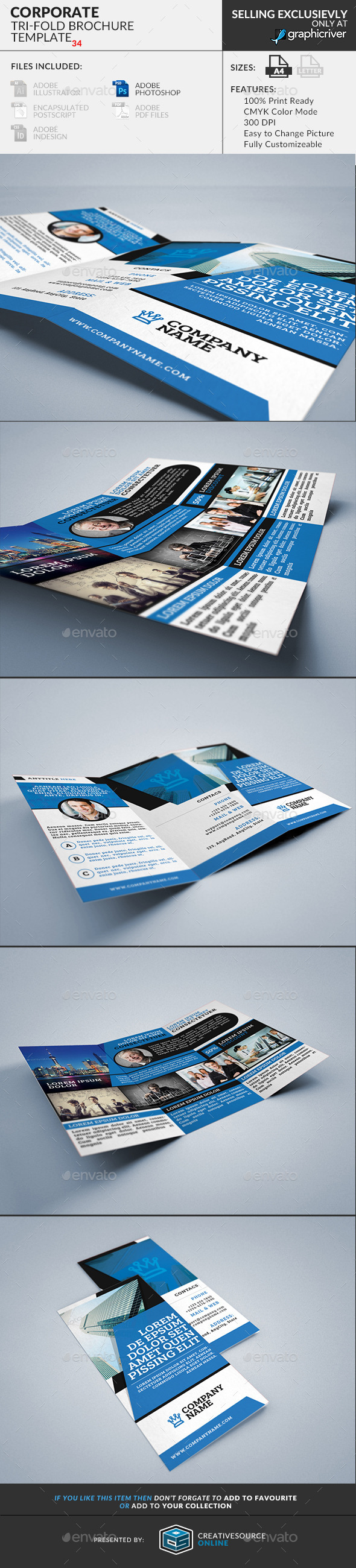 Trifold Brochure 34: Corporate - Corporate Brochures