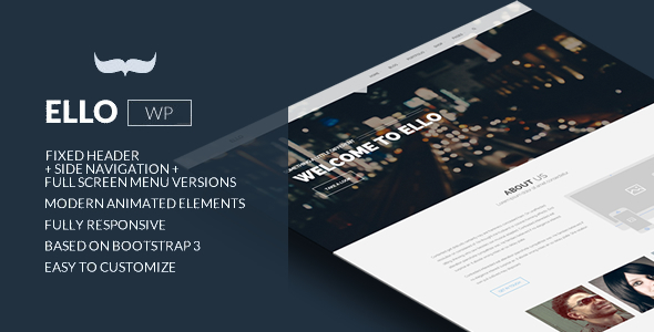 Ello – Responsive Bold Multipage/Onepage Theme
