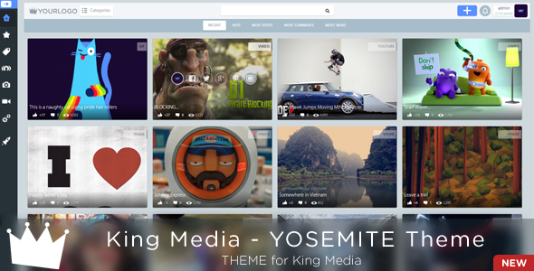 King MEDIA - YOSEMITE Theme - CodeCanyon Item for Sale
