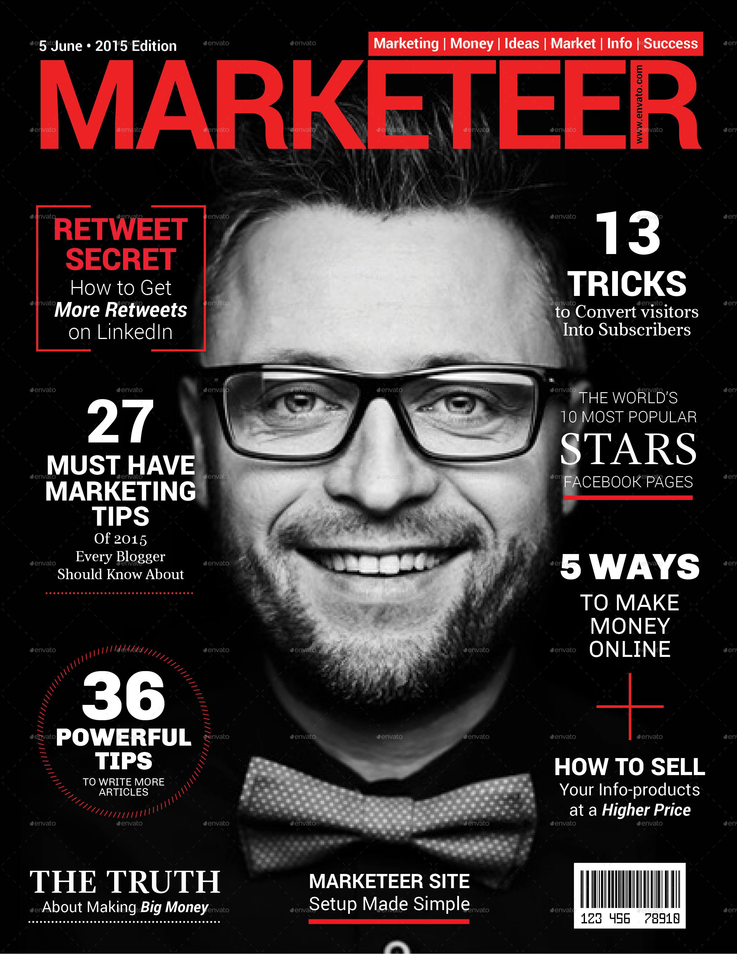 marketing magazine cover by victorlopatin