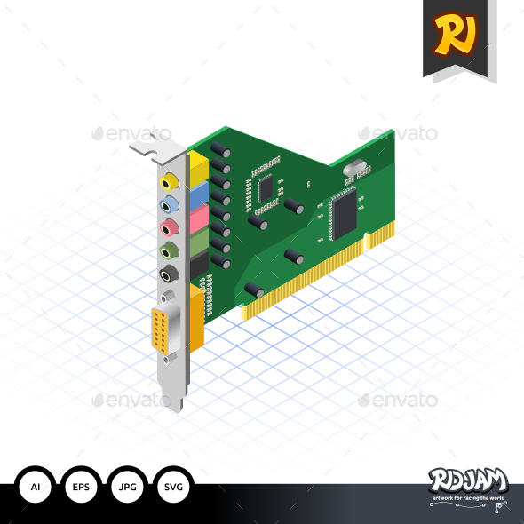 Isometric Sound Card - Computers Technology