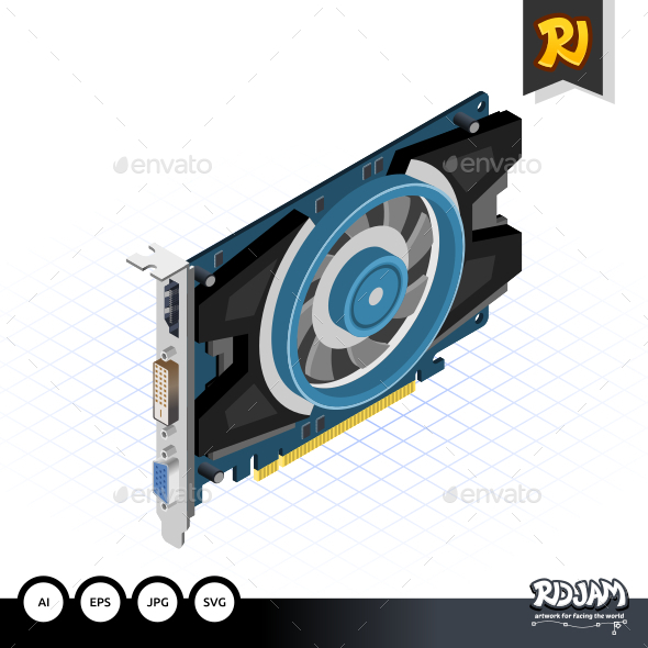 Isometric Graphic Card - Computers Technology