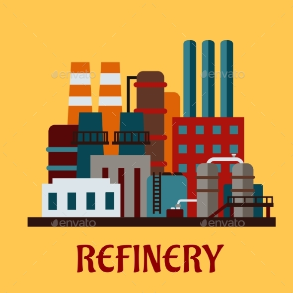 Flat Industrial Refinery - Industries Business