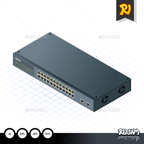 Isometric Switch with Uplink Port - Computers Technology