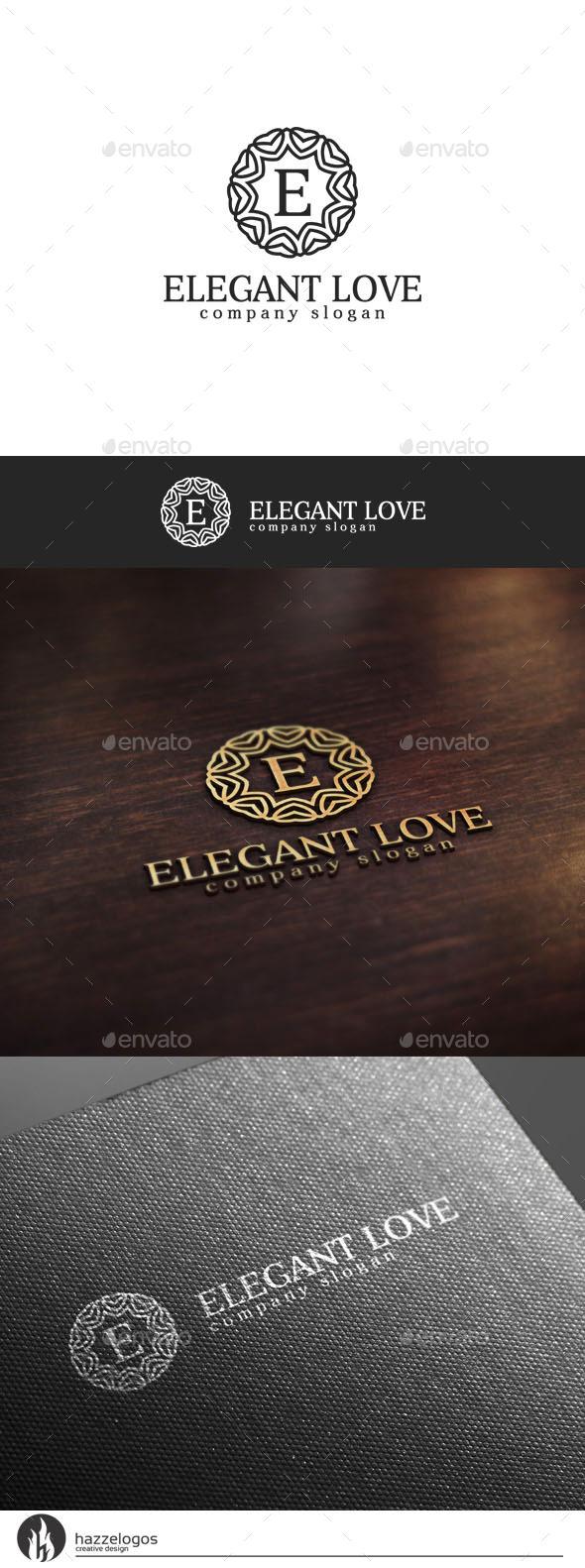 Elegant Love V2 Logo - Crests Logo Templates