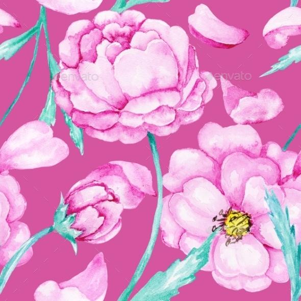 Spring Blossoming Botanic Pattern - Patterns Decorative