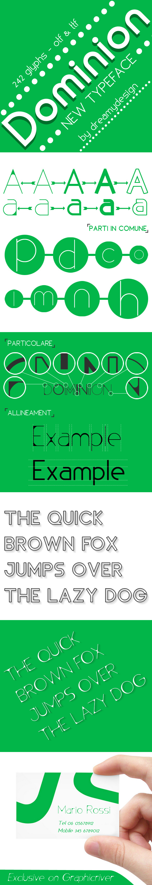 Dominion typeface - Sans-Serif Fonts