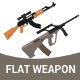 Flat Weapon Set - GraphicRiver Item for Sale