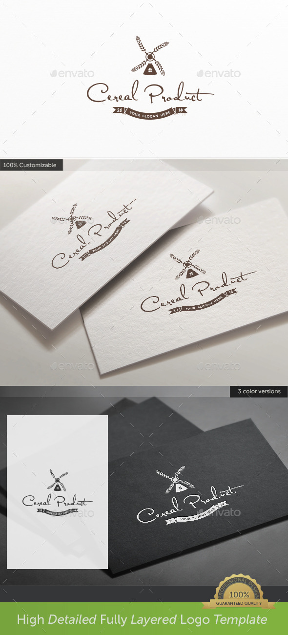 Wheat Cereal Product Logo - Food Logo Templates