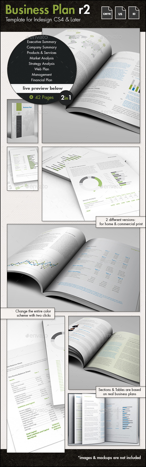 Business Plan Template - US Letter - Proposals & Invoices Stationery