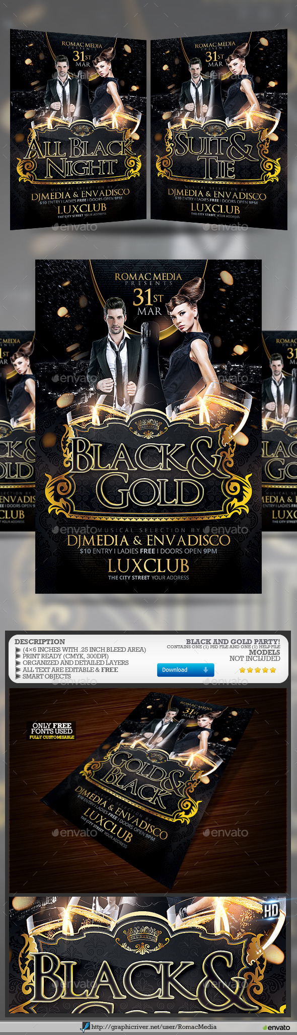 Black and Gold Birthday Party - Clubs & Parties Events