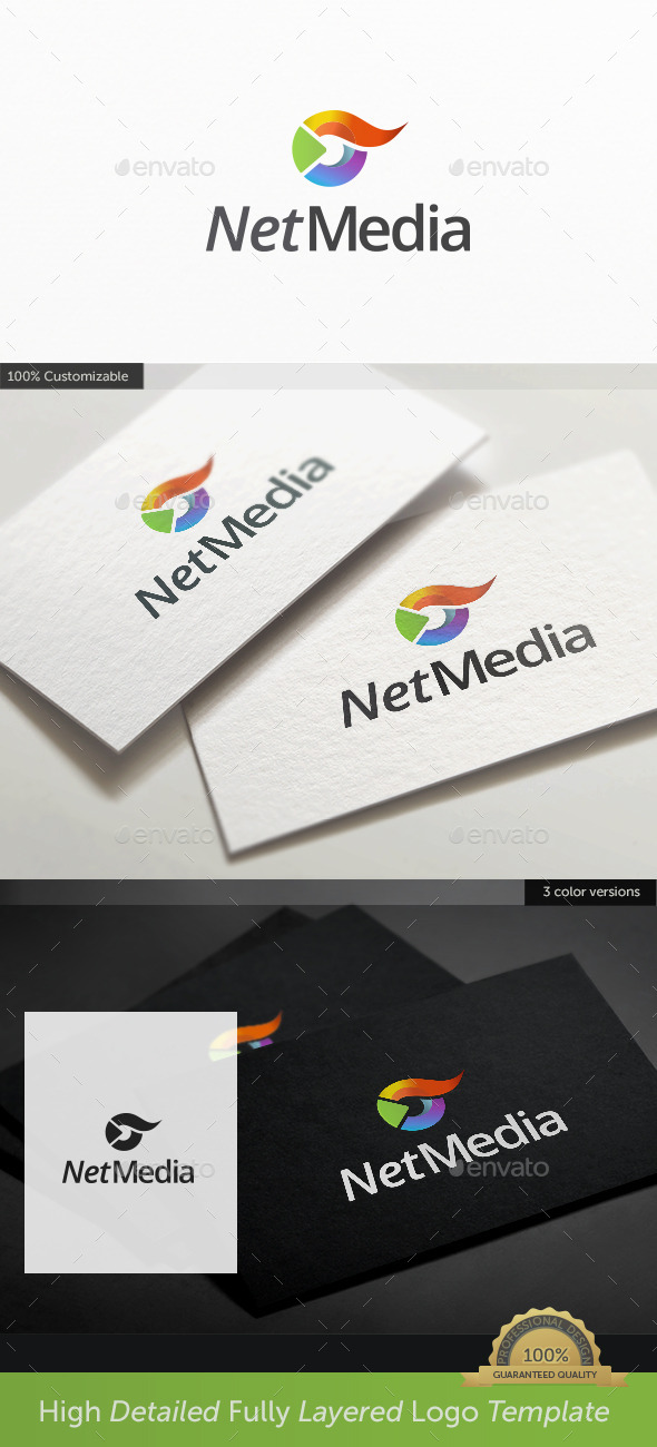 Tv Play Media Logo  - Abstract Logo Templates
