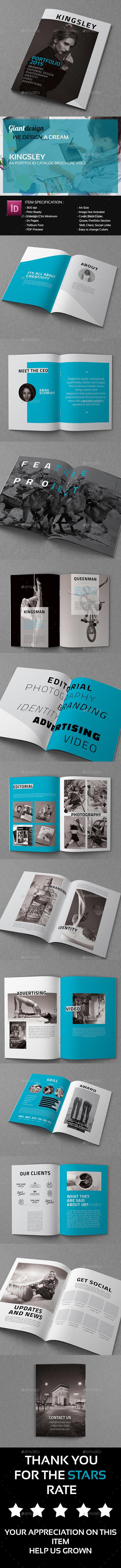 Kingsley - A4 Portfolio Catalog Brochure Vol 2 - Portfolio Brochures