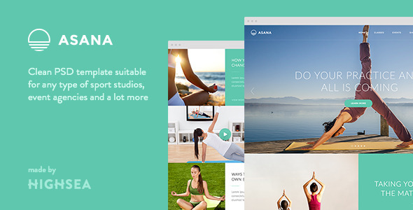 Asana - Sport and Yoga PSD Template - PSD Templates