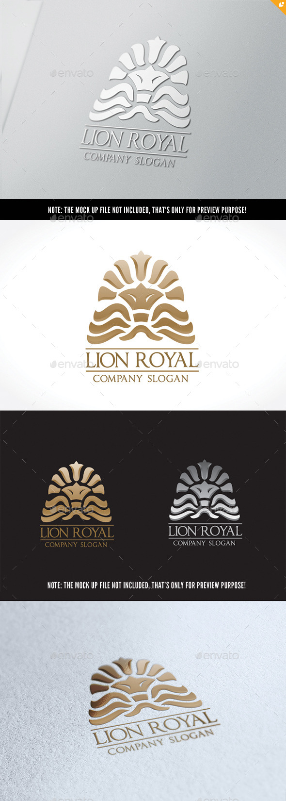 Lion Rayal - Crests Logo Templates