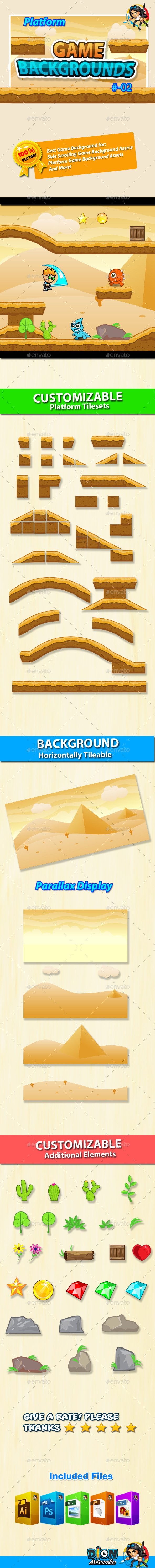 Game Background - Platform Tilesets - 02 - Backgrounds Game Assets
