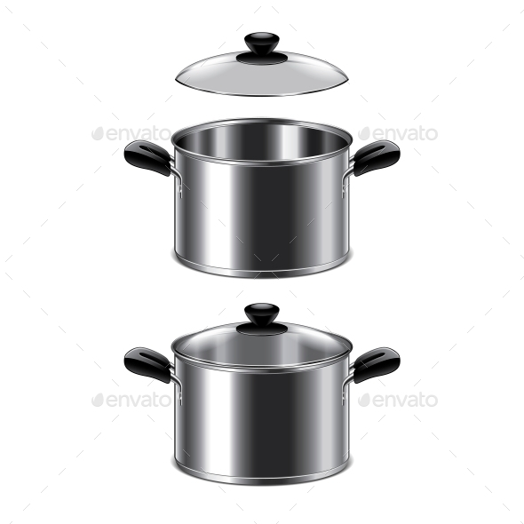Steel Pot - Food Objects