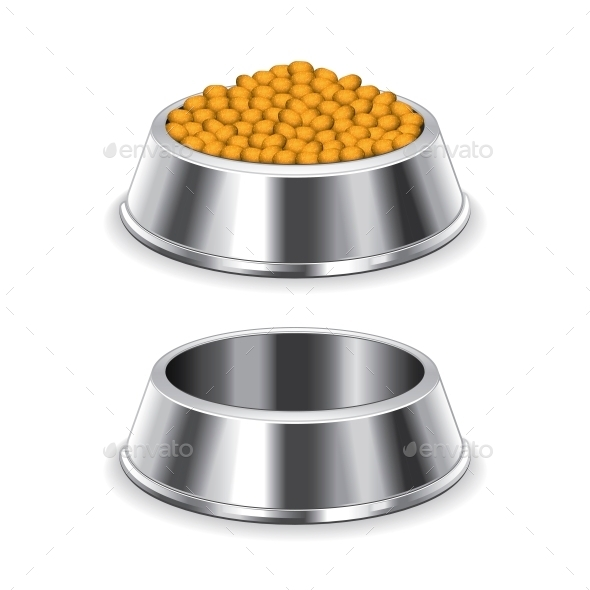 Metal Dog Bowl - Food Objects