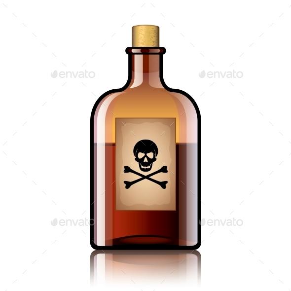 Poison Bottle - Health/Medicine Conceptual