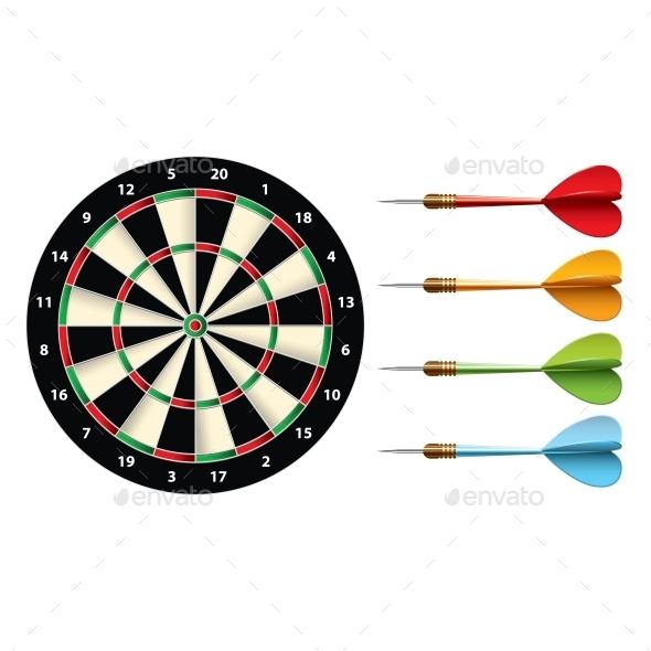 Darts Set - Sports/Activity Conceptual