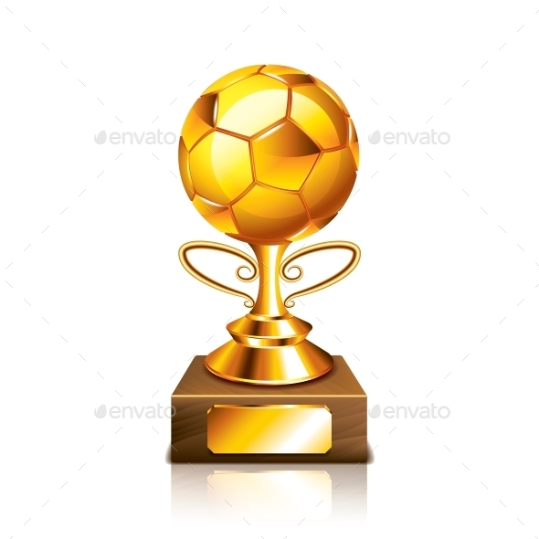 Golden Ball Figurine - Sports/Activity Conceptual