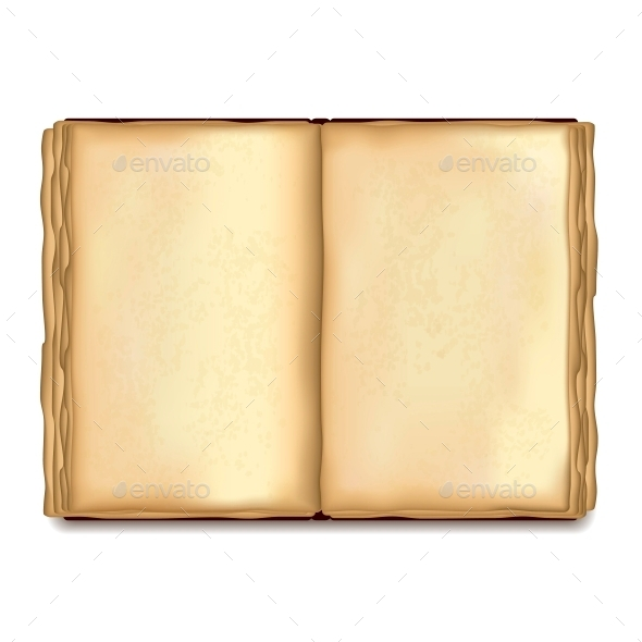 Old Opened Book - Backgrounds Decorative