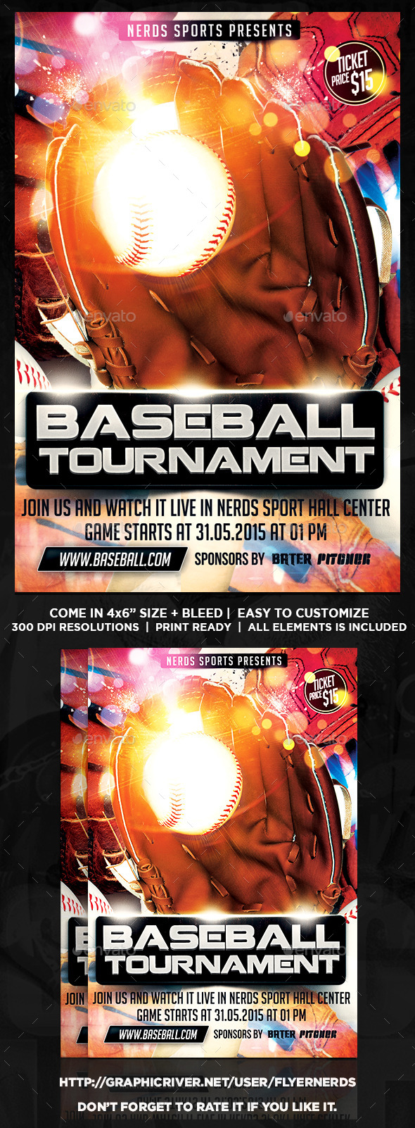 Baseball Competition 2K15 Sports Flyer - Sports Events