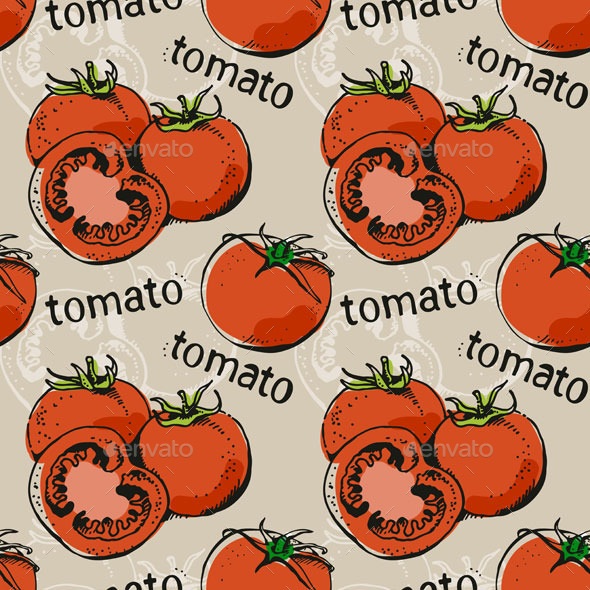Tomatoes Pattern - Food Objects