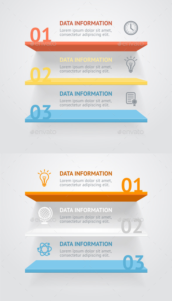 Vector Infografic Shelves - Business Conceptual
