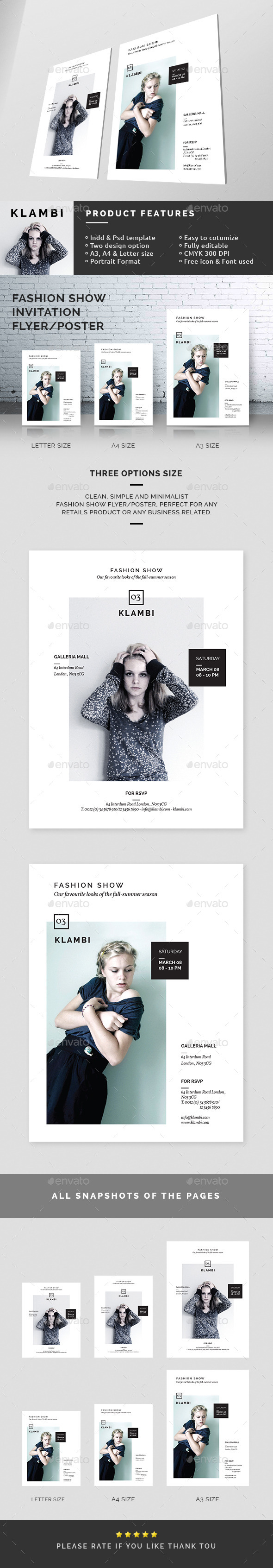 Fashion Show Invitation Flyer/Poster - Miscellaneous Events