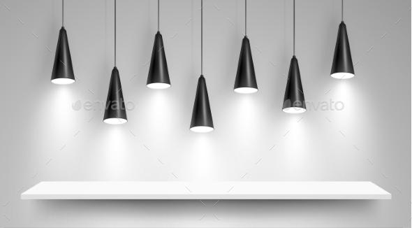 Black Ceiling Lamps - Backgrounds Decorative