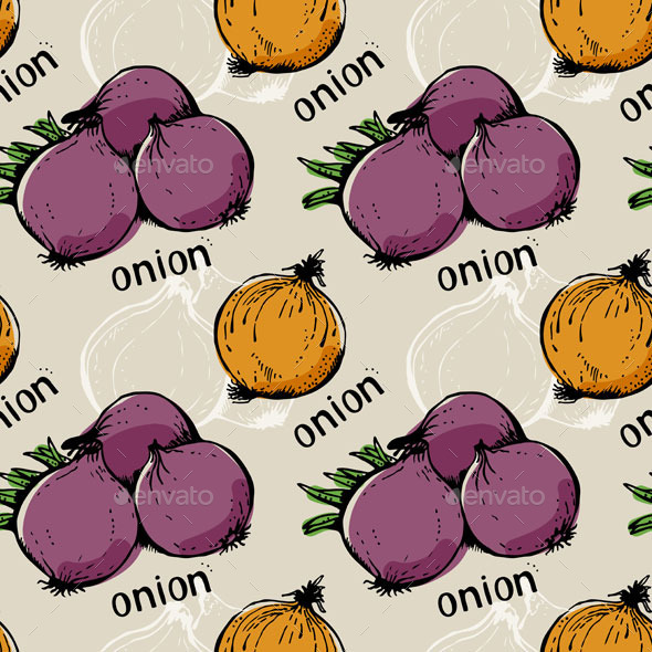 Onion Pattern - Food Objects