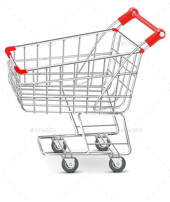 Shopping  Supermarket Cart Vector - Objects Vectors