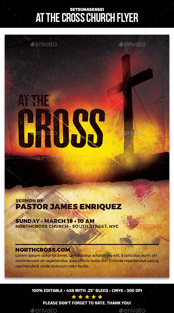 At the Cross Church Flyer - Church Flyers