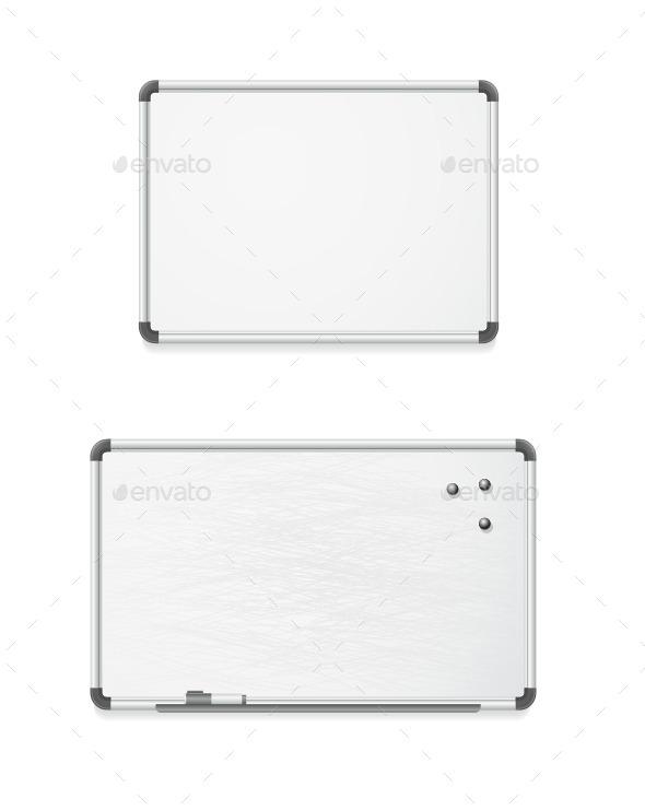 Vector Empty Whiteboard  - Objects Vectors