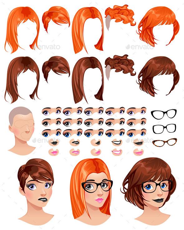 Fashion Female Avatars - People Characters