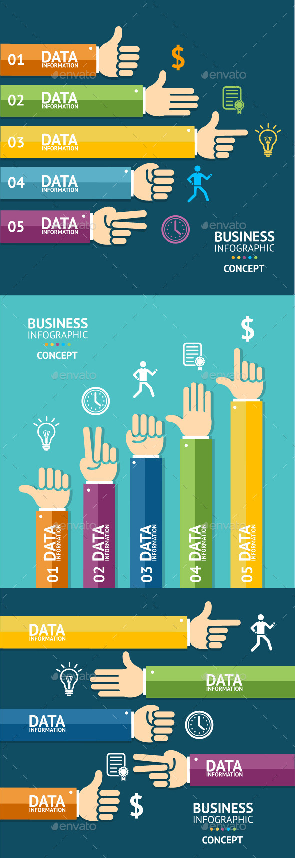 Vector Business Infographics  - Business Conceptual