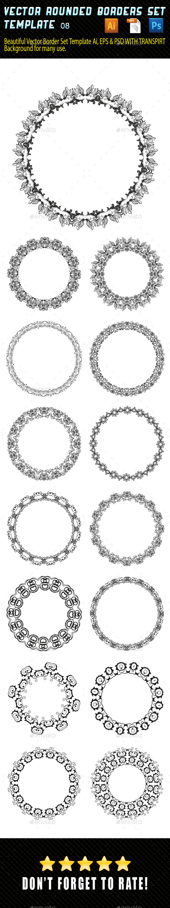 Vector Rounded Borders 08 - Borders Decorative