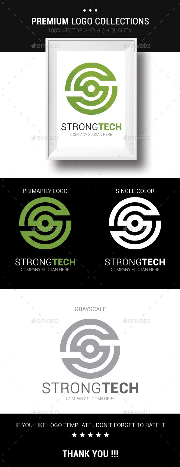 Strong Tech - Symbols Logo Templates