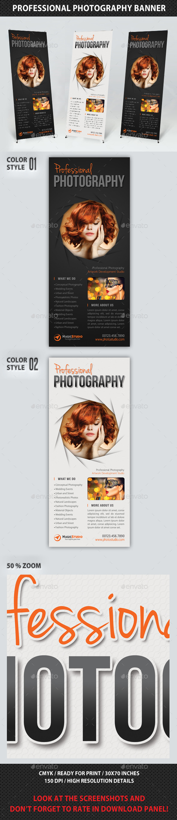 Photography Studio Multipurpose Banner 14 - Signage Print Templates