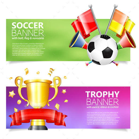 Soccer Banners - Sports/Activity Conceptual