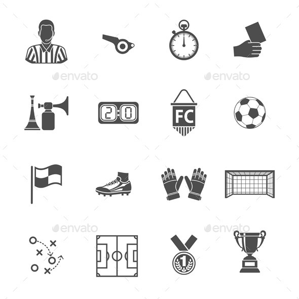 Soccer Icon Set - Sports/Activity Conceptual