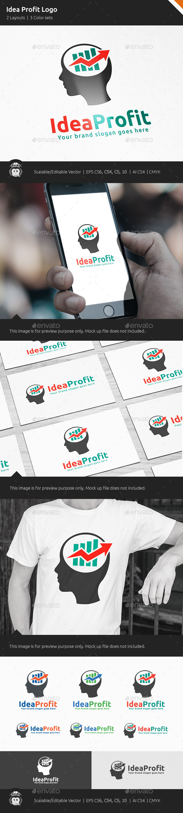 Idea Profit Marketing Logo - Vector Abstract